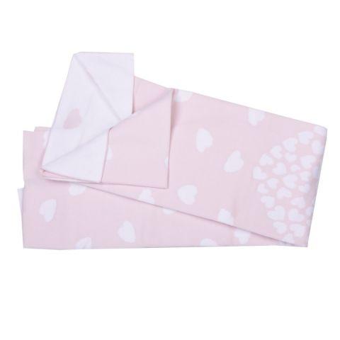 Kitikate Kocyk tkany Organic cotton 105x90 Różowy