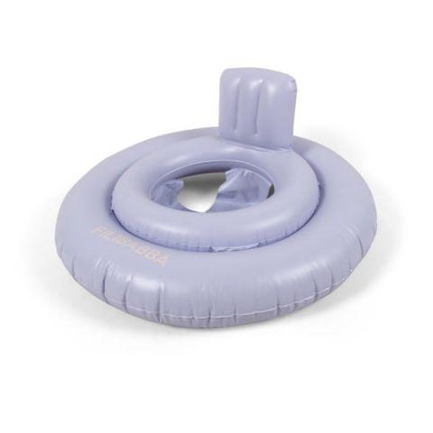 Kółko z siedziskiem do pływania dla niemowląt Baby Filibabba Fresh violetw kolorze niebieskim