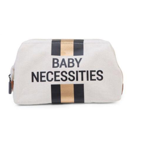 Childhome Kosmetyczka Baby Necessities Paski Czarno-Złote