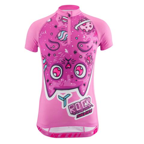 Koszulka rowerowa dziecięca Silvini SCRIVIA pink