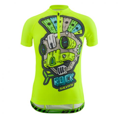 Koszulka kolarska Silvini neon