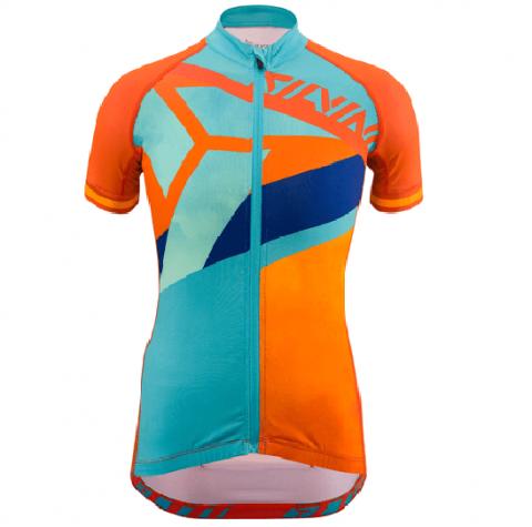 Koszulka rowerowa dla dzieci Silvini TANARO Kids Orange-Sky 146-152