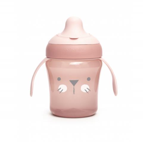 Kubek dla dzieci do nauki picia Suavinex +6m Hygge Baby różowy