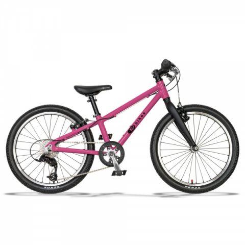 Lekki rower dziecięcy KUbikes 20 S MTB różowy lasur