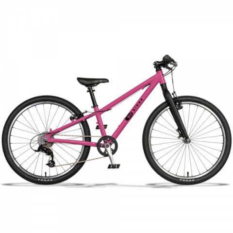 Lekki rower dziecięcy KUbikes 24 S MTB Różowy lasur