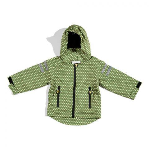 DUCKSDAY dziecięca kurtka całoroczna 3w1 z odpinanym polarem Funky Green black 10Y