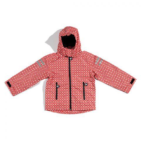 DUCKSDAY dziecięca kurtka przeciwdeszczowa Funky Red 98-104