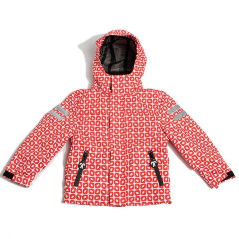 DUCKSDAY dziecięca kurtka całoroczna 3w1 z odpinanym polarem Funky Red 6Y