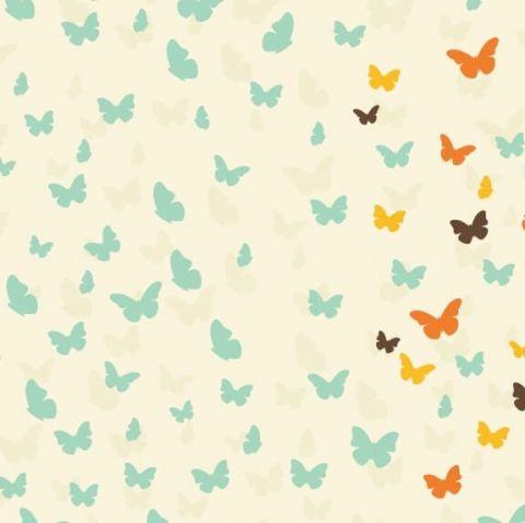 Lela Blanc Zestaw do Gondoli/ Kołyski Butterflies