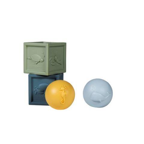 zabawki do kąpieli w różnych kształtach Little Dutch
