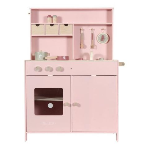 Little Dutch Duża drewniana kuchnia dla dziewczynek Różowa
