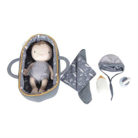 Little Dutch Laleczka Baby Jim zestaw z nosidełkiem i akcesoriami