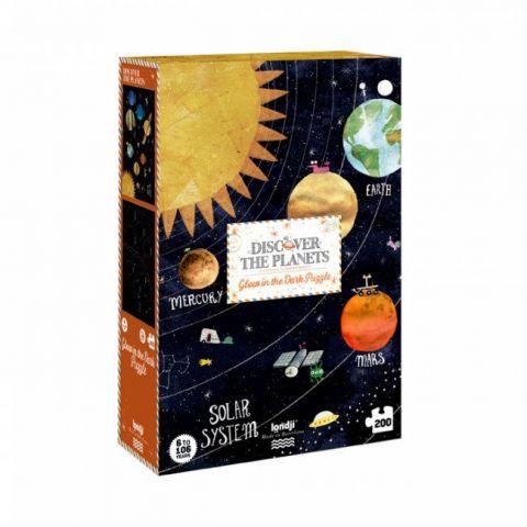 LONDJI Fluorescencyjne puzzle z planetami - Odkryj Planety