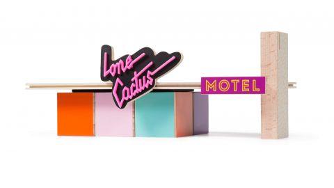 Candycar Drewniany Lone Cactus Motel