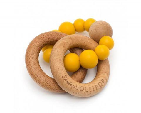 LouLou Lollipop gryzak silikonowy Bubble Golden Mustard