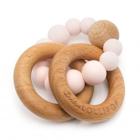 LouLou Lollipop gryzak silikonowy Bubble Pink Quartz