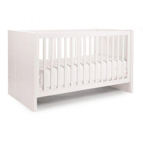 łóżeczko dla niemowlaka childhome quadro white