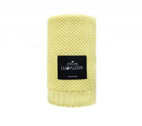Lullalove bambusowy koc makaronik żółty