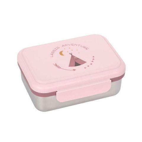 Lunchbox dla dziecka ze stali nierdzewnej Lassig Adventure Tipi