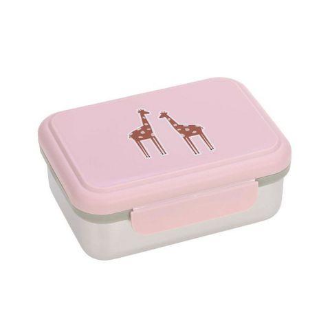 Lunchbox dla dziecka ze stali nierdzewnej Lassig Safari Żyrafa