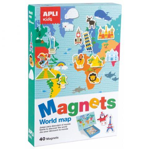 Apli Kids Magnetyczna układanka Mapa świata