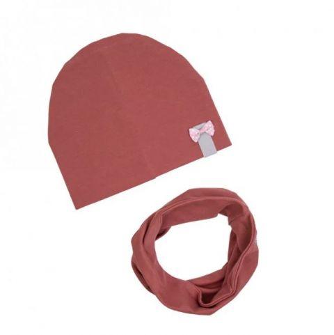 UL&KA komplet czapka i komin całoroczny MARSALA 4 L