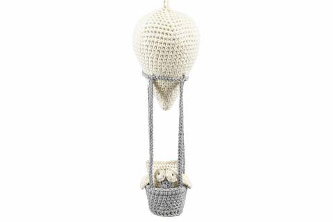 Maylily szydełkowy balon z Sówką Kremowy