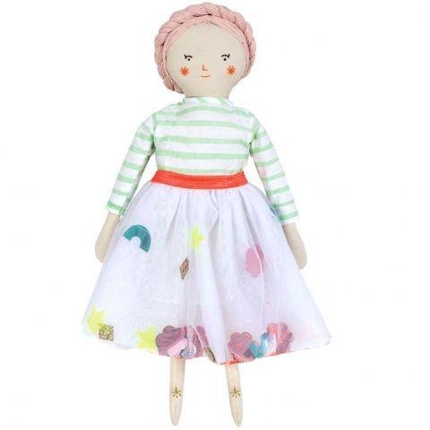 Meri Meri lalka Matilda lalka szmaciana z haftowaną twarzą