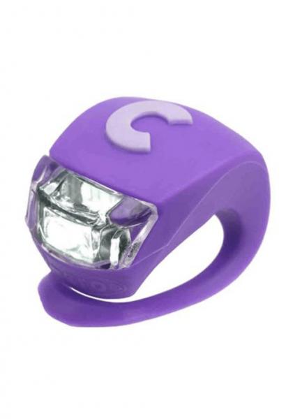 Micro światełko do hulajnogi Deluxe fioletowe