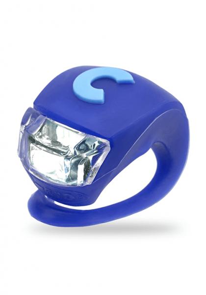 Micro światełko do hulajnogi Deluxe niebieskie