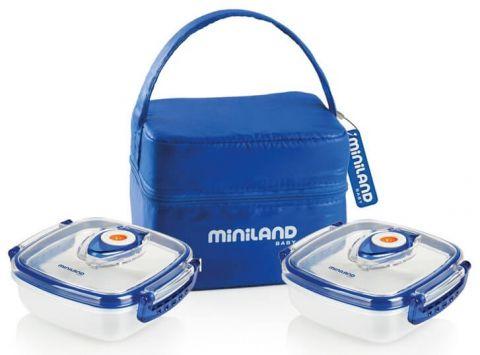 MINILAND Pojemniki z torbą izotermiczną niebieski 330ml x 2
