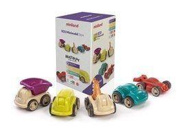 Miniland Zestaw ekologicznych mini autek do zabawy
