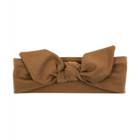 UL&KA opaska KARMELOWA z kokardą dla dziewczynki 3-6 msc 40-42 cm