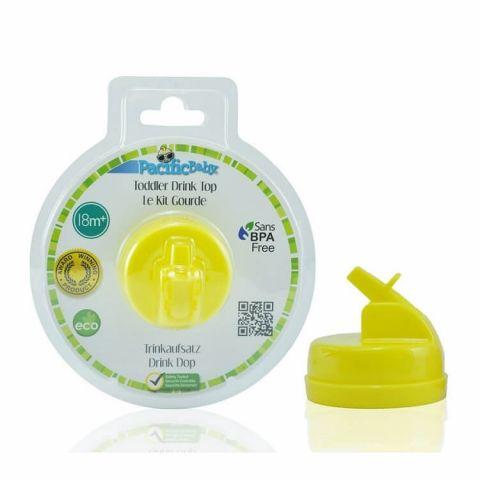 Pacific Baby plastikowy składany ustnik do butelki żółty