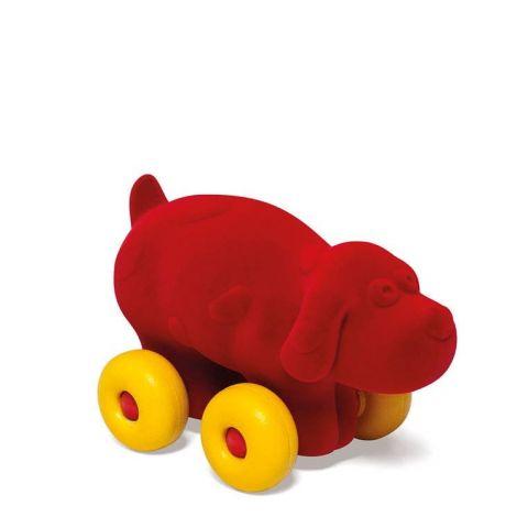 Pies pojazd sensoryczny dla dziecka czerwony Rubbabu