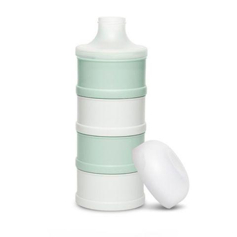 4-częściowy pojemnik na mleko w proszku dla dziecka w kolorze różowym z kolekcji Hygge Suavinex