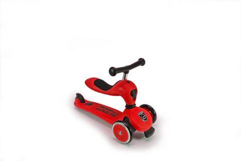 Scootandride - Highwaykick 2w1 RED - jeździk