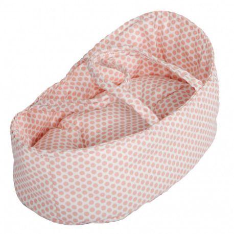 Nosidełko dla lalek 36 cm w różowe kropki Barrutoys