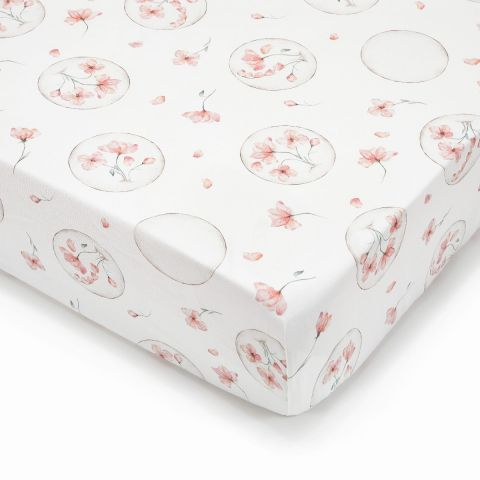 Prześcieradło do łóżeczka dziecięcego z bawełny QBANA MAMA ILUSSION 120x60
