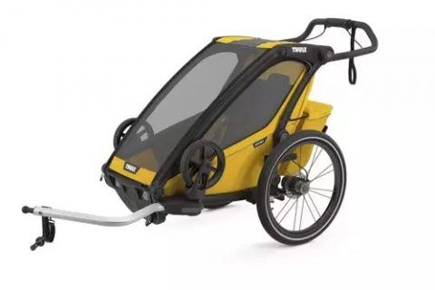 Przyczepka rowerowa dla dziecka Thule Chariot Sport 1 żółta