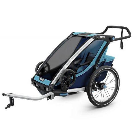 Przyczepka rowerowa dla dziecka - THULE Chariot Cross 1 - niebiesko-granatowa