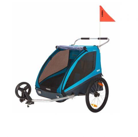 Przyczepka rowerowa podwójna - THULE Coaster XT niebieska