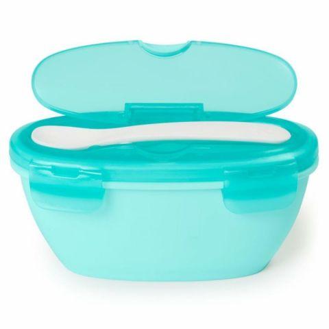 Zestaw pudełko z łyżeczką do karmienia dziecka