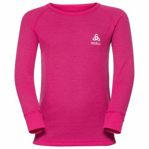 Koszulka ODLO crew neck Warm Kids PINK 116