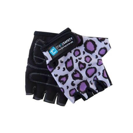 Rękawiczki dziecięce CRAZY SAFETY S leopard Lila