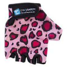 Rękawiczki dziecięce CRAZY SAFETY S leopard pink