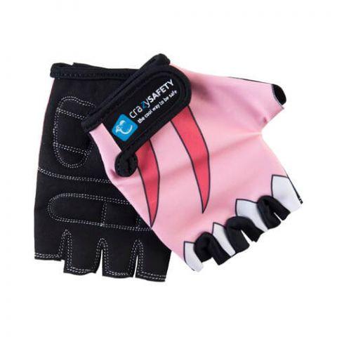 Rękawiczki dziecięce CRAZY SAFETY S rekin rosa
