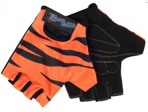 Rękawiczki dziecięce CRAZY SAFETY S tygrys pomarańcz