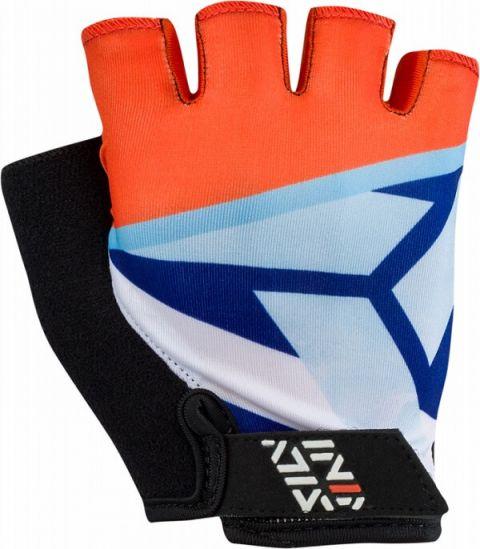 Rękawiczki rowerowe Silvini Pomarańczowo-Niebieskie