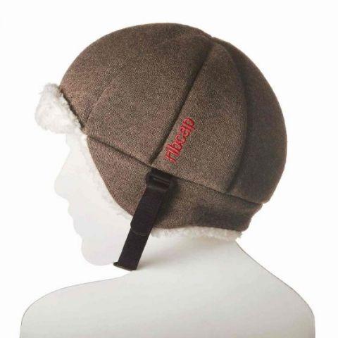 czapka dziecięca ochronna Ribcap brązowy harris